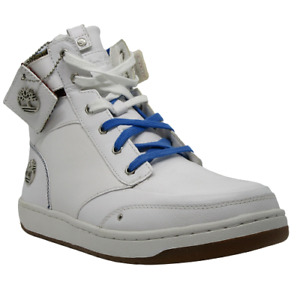 Mens Timberland Marbras White Leather Boots shoes Size UK 8 Eu 42  6228A Hi Tops