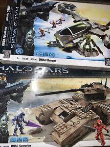 Mega Bloks Halo UNSC Hornet & UNSC Scorpion Parts Lot 96806 96807
