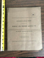 1915 Norfolk and Western Railway Company 19th Annual Report Fold out Map