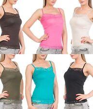 Hüftlang Damenblusen,-Tops & -Shirts im Trägertops-Stil mit Stretch für Business