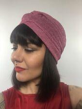 Bonnet turban stretch rose à paillettes pinup burlesque rétro sexy original