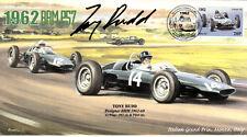 1962 brm P57s & cooper T60, italien gp, monza F1 couverture signé tony rudd