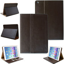 Custodia in pelle per Apple iPad Air 1 Tablet Custodia Cover Astuccio Case Stand Marrone