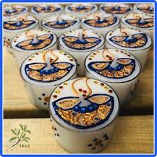 Henna Decorated Maxi Tealights - Diwali Christmas Mehandi Wedding Favours x 6