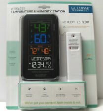 LA CROSSE TECHNOLOGY Temperature & Humidity Wireless Weather Station S82967 NEW
