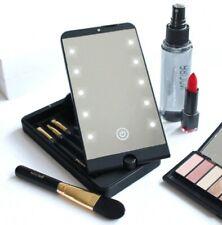 Miroir maquillage grossissant led pliable livré avec 5 pinceaux de Maquillage