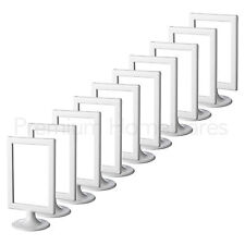 """10x IKEA TOLSBY Double-Sided White Gloss Plastic Picture Frames (10x15cm/4x6"""")"""