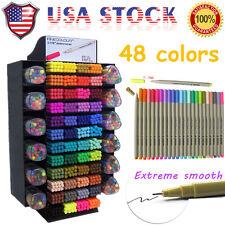 Set 48 Color FINECOLOUR 0.3mm Sketch WaterColor Drawing Painting Fine Liner Pen
