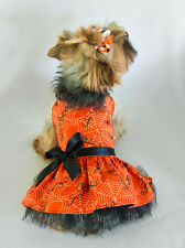S Sparkly Boo Halloween Dog Dress clothes pet apparel Spider Web Small Pc Dog®