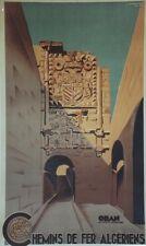 """""""ORAN LA PORTE D'ESPAGNE"""" Affiche originale entoilée 1948 L. KOENIG 64x104cm"""