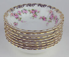8 x Dessert Bowls Fruit Nappies Royal Albert Dimity Rose bone china England