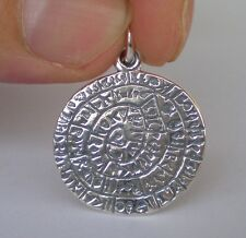 Phaistos Disk Quality Pendant - Sterling Silver - Ancient Greece