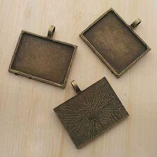 1pcs antiqued bronze large cube cabochon settings G488