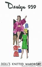 959 Vintage Doll Clothing Pattern fits Barbie 11.5 in. Mail Order Knitted