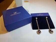 Swarovski Black Baroque Drop Pierced Earrings (Amethyst) NWT $119