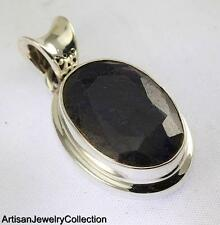 BLUE SAPPHIRE PENDANT 925 STERLING SILVER ARTISAN JEWELRY COLLECTION Y161B
