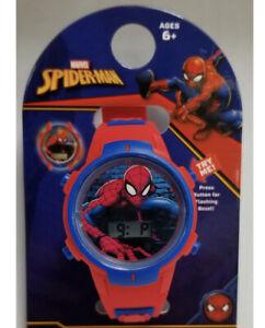 Spider-Man Wristwatch Kids Flashing  LCD Watch Marvel New Age 6+