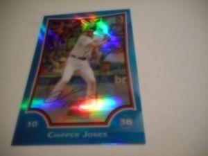 Chipper Jones 2009 Bowman Chrome Blue Refractor #9 Atlanta Braves HOF