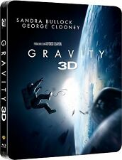 Gravity 3D Limited Edition Steelbook Bluray 3D UK Exclusive NEW SEALED