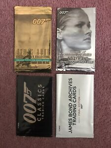 4 James Bond Empty Wrappers From Rittenhouse Archives & Inkworks