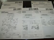 SONY DTC-59ES SERVICE MANUAL NICE!