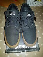 Supra Axle Black With Gum Sole. Size 9.5