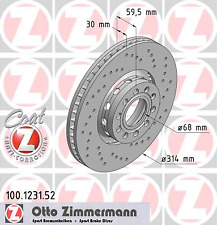 Bremsscheibe (2 Stück) SPORT-BREMSSCHEIBE COAT Z - Zimmermann 100.1231.52