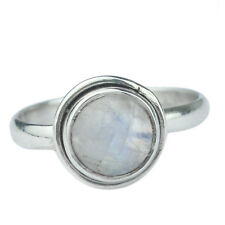 925 Sterling Silver Rainbow moonstone natural gemstone Ring Size 7 US 2.18 g