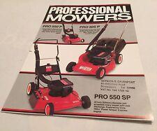 VICTA Professional Mowers Original Uncirculated1980s? Sales Brochure Poster