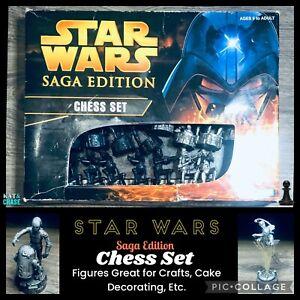 Star Wars Chess Set Saga Edition - Party Cake Decorative Diorama Figurine Craft
