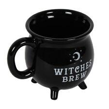 Witches Brew Cauldron Mug Black Mug 10cm Tea Coffee Soup Cup Gift Box Gothic