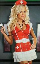 Red & White Naughty Nurse Roleplay Size Medium. Dress, hat & belt Fancy Dress