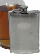 6 oz Stainless Steel Alcohol Liquor Flask With Blank Plate for Engraving