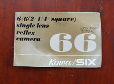 KOWA SIX INSTRUCTION BOOK, COSMETIC ISSUES/210350