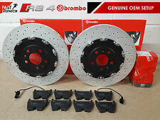 FOR AUDI RS4 B7 FRONT BREMBO 365mm BRAKE DISC DISCS & TRW BRAKE PADS SENSORS OEM