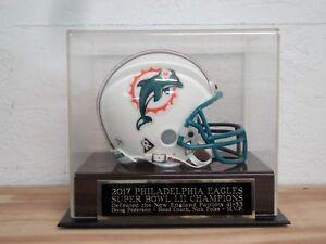 Philadelphia Eagles Football Mini Helmet Case W/ A Super Bowl 52 Nameplate