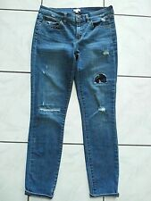 J.CREW Toothpick Ankle Stretch Blue Jeans Distressed Size 28 Style C7846 D30
