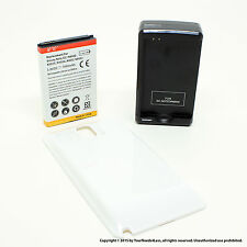 7000mAh Extended Battery for Samsung Galaxy Note 3 N9000 White Cover Dock