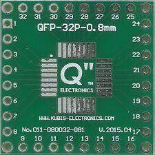 Płytka QFP32 0.80mm na złącze 4 x IDC1x8. [PL]