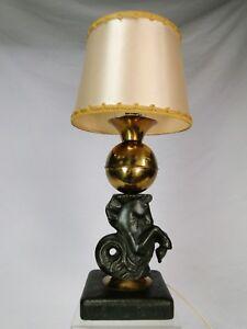 RARE LAMPE GEORGES JOUVE (1910-1964) & MAISON ASSELBUR CERAMIQUE 50 DESIGN 50'S
