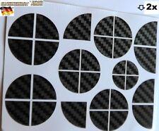 "Orig.Carbon Aufkleber Auto KFZ Emblem Logo Abzeichen 2x 30pcs ""Ecken"" >1A-Qualy*"