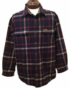 CARHARTT 2XL Plaid Flannel Thermal Fully Lined Youngstown Shirt Jacket *flaw