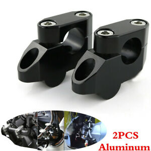 "2x Motorcycle 22mm Handlebar Riser Mount Clamp 7/8"" Handle Bar Risers Aluminum"