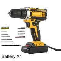 21V Electric Drill Cordless Electric Screwdriver Drill Bits Set with Battery USA