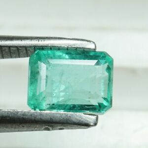 Certified Emerald from Colombia, 1.20 Cts, Octagonal, 6.4x5 mm Vivid Lusturious