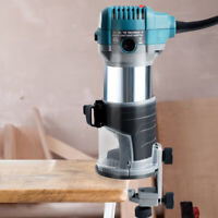 1.25HP Palm Router Kit Variable Speed Woodwork Tool w/ Fixed Base & Dust Hood