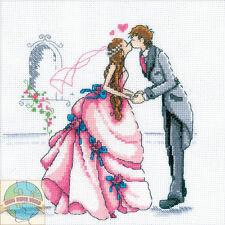 Cross Stitch Kit ~ RTO Romantic Bride and Groom Wedding First Kiss #M165