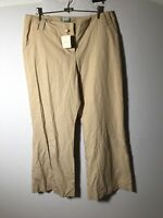 veronika maine NEW WITH TAGS Womens Camel Wide Leg Pants Size 16 W36 Inch