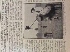 m5-2g ephemera 1912 article a children's donkey gymkhana stick carrot race