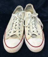 Converse All Star Low Unisex Trainers Sneakers Running Shoes White Lace (Mens 9)